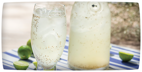 Chia Water with Lemon