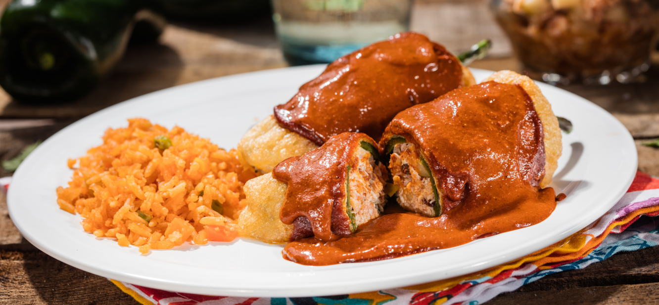 CHILES RELLENOS IN MOLE SAUCE